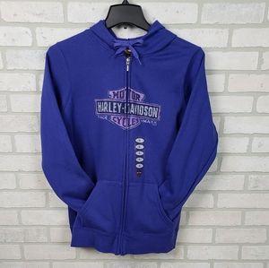 NWT Harley-Davidson Hoodie Full Zip Blue/Purple XL